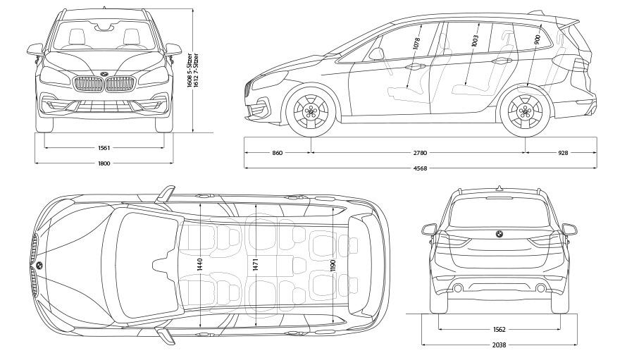 Technische Daten BMW 2er Gran Tourer