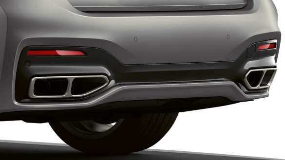 BMW M760Li xDrive Auspuffendrohre