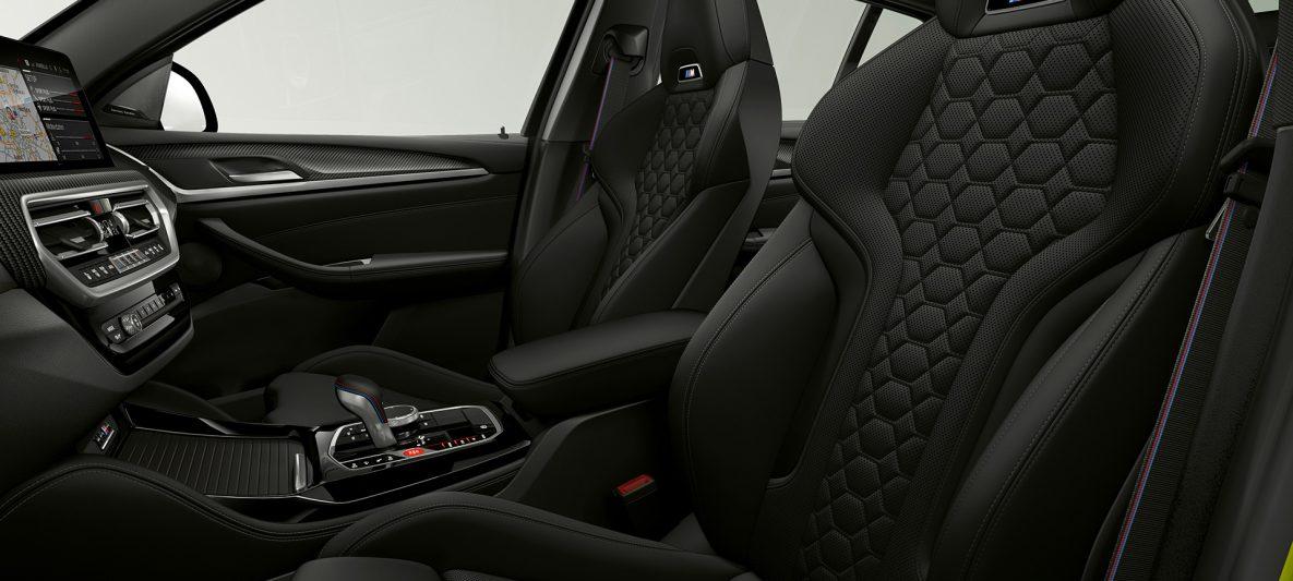 BMW X4 M Competition F98 LCI Facelift 2021 M Sportsitze Innenraum